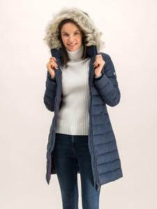 Granatowy płaszcz Tommy Jeans w stylu casual