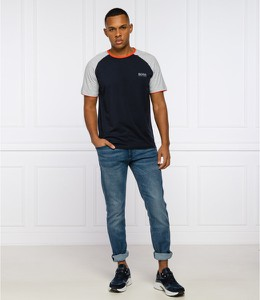Czarny t-shirt Hugo Boss z krótkim rękawem w stylu casual