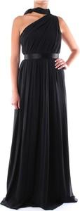 Czarna sukienka MaxMara bez rękawów maxi z dekoltem halter