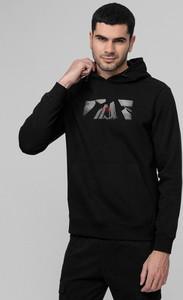 Czarna bluza 4F w młodzieżowym stylu z dzianiny
