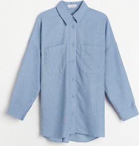 Niebieska koszula Reserved w stylu casual