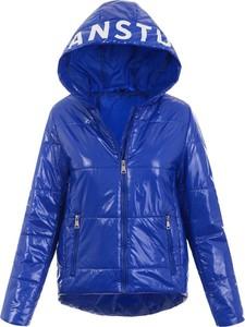 Niebieska kurtka fasoni.pl krótka w stylu casual