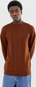Brązowy sweter Asos z wełny