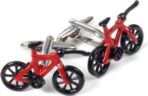 Republic of Ties Spinki mankietowe rower czerwony