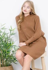 Brązowa sukienka Olika