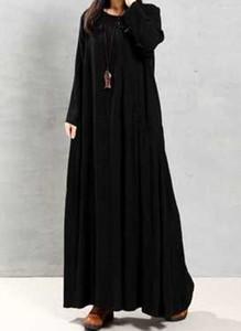 Czarna sukienka Cikelly z długim rękawem maxi