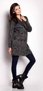 Czarny płaszcz Awama