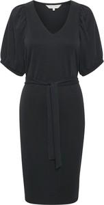 Czarna sukienka Part Two z krótkim rękawem w stylu casual mini