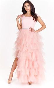 Sukienka Bosca Fashion z krótkim rękawem z szyfonu