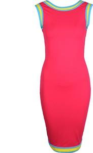 """Różowa sukienka Sugarbird Sukienka """"karem"""" ołówkowa z okrągłym dekoltem mini"""