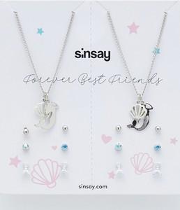 Sinsay - Zestaw: kolczyki i naszyjnik - Wielobarwny
