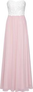 Różowa sukienka Laona z szyfonu