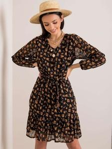 Sukienka Promese z długim rękawem mini w stylu casual