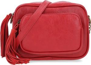 Czerwona torebka Pepe Jeans z frędzlami