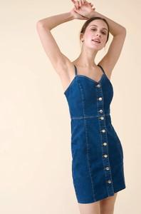 Sukienka ORSAY z jeansu mini na ramiączkach