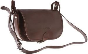 Brązowa torebka VOOC ze skóry w młodzieżowym stylu matowa