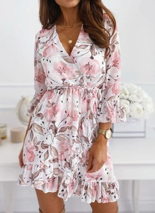 Sukienka Arilook mini z długim rękawem