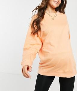 ASOS DESIGN Maternity – Pomarańczowa bluza oversize z bawełny organicznej-Pomarańczowy
