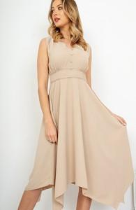 Sukienka ZOiO.pl na ramiączkach z dekoltem w kształcie litery v