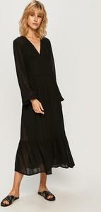 Sukienka Pepe Jeans z dekoltem w kształcie litery v z tkaniny