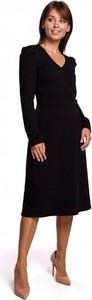 Czarna sukienka Be midi z bawełny