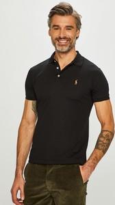 Czarna koszulka polo POLO RALPH LAUREN z krótkim rękawem