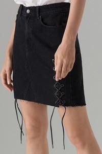 Czarna spódnica Mohito w street stylu mini z jeansu