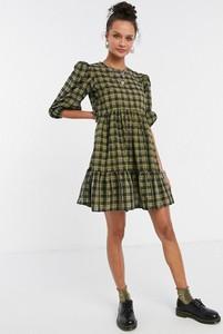 Zielona sukienka New Look koszulowa z długim rękawem