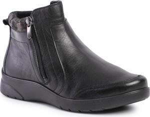Czarne botki Comfortabel z płaską podeszwą