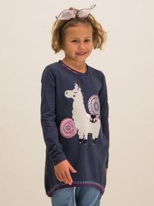 Granatowa bluzka dziecięca Desigual z długim rękawem