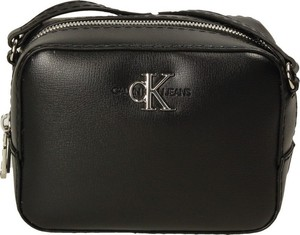 Czarna torebka Calvin Klein na ramię ze skóry ekologicznej w stylu casual