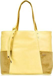 9d3e0932ed51a Żółta torebka Felice ze skóry ekologicznej duża w stylu casual