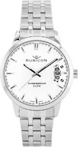 ZEGAREK MĘSKI RUBICON RNDD82SISX (zr083a) - Srebrny