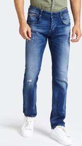 Niebieskie jeansy Guess z bawełny w stylu casual