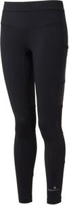 Czarne legginsy Ronhill w sportowym stylu z tkaniny