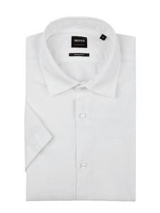 Koszula BOSS Casual z klasycznym kołnierzykiem z krótkim rękawem