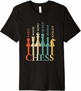 T-shirt Chess Checkers And Board Games Designs z krótkim rękawem