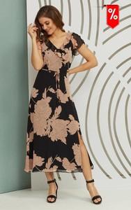 Sukienka Kaskada maxi z dekoltem w kształcie litery v
