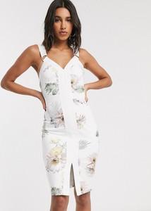 Sukienka Ted Baker bandażowa z dekoltem w kształcie litery v