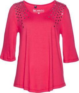 Różowa tunika bonprix bpc selection w stylu glamour