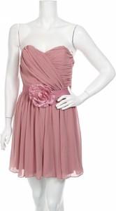 Różowa sukienka Asos bez rękawów mini rozkloszowana