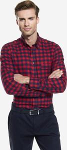 Fioletowa koszula Wólczanka z bawełny w stylu casual
