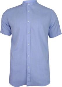 Granatowa koszula Brave Soul z tkaniny z krótkim rękawem
