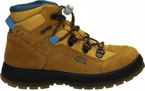 Brązowe buty dziecięce zimowe Primigi ze skóry