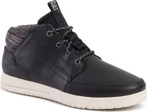 Czarne buty zimowe Caterpillar w stylu casual