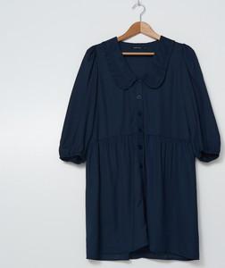 Granatowa sukienka House w stylu casual