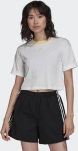 T-shirt Adidas z płótna