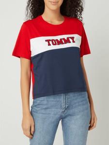 T-shirt Tommy Jeans z krótkim rękawem z okrągłym dekoltem z bawełny