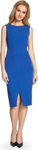Niebieska sukienka Stylove ołówkowa midi