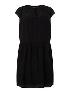 Czarna sukienka Tom Tailor mini z okrągłym dekoltem